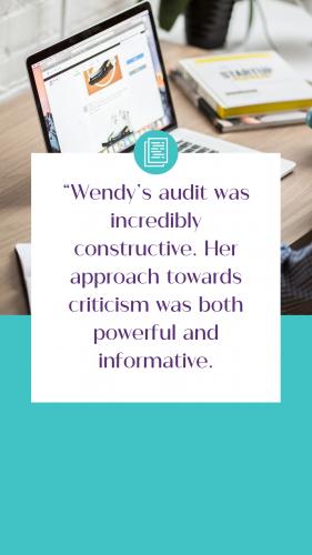 Business Audit Graphics Testimonial Lauren Rachel